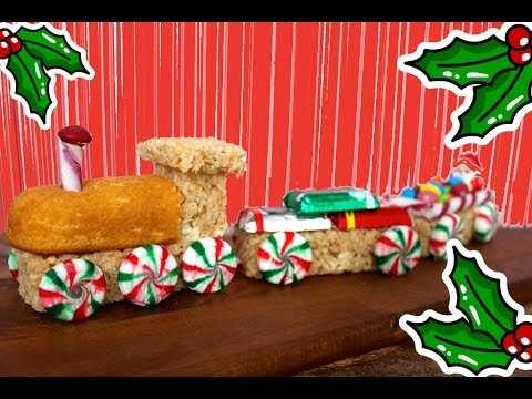 Rice Krispie Train – Kids Christmas Dessert Recipe – NO BAKE Cooking With Squish