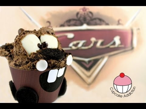 Cars Cupcakes! Make a Tow Mater Cup Cake – A Cupcake Addiction How To Tutorial