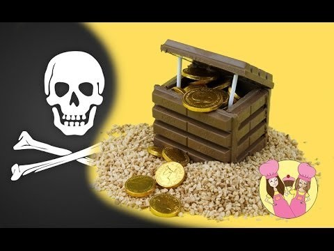 Make a PIRATE TREASURE CHEST using Kit-Kats – Cake topper Tutorial by Charli's crafty kitchen
