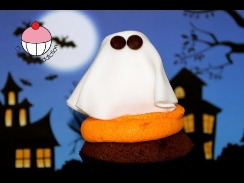 HALLOWEEN CUPCAKES! Decorate a Halloween GHOST Cupcake — A Cupcake Addiction How To Tutorial