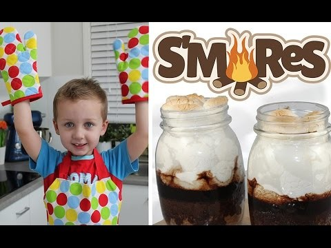 S'mores Cake Jars! Cooking with Squish Episode 2 – Great Kids Smores Recipe