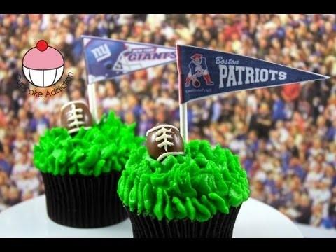 Superbowl Cupcakes! Decorate Football Cupcakes — A Cupcake Addiction Superbowl Tutorial