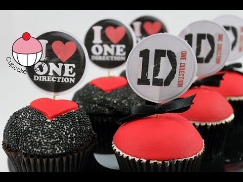 Make I LOVE ONE DIRECTION Cupcakes! – A Cupcake Addiction How To Tutorial