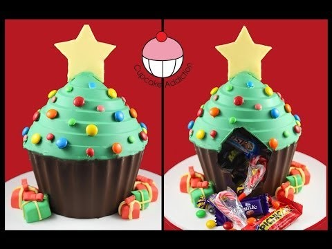 Chocolate Christmas Tree PINATA! No Bake Xmas Dessert Recipe By Cupcake Addiction