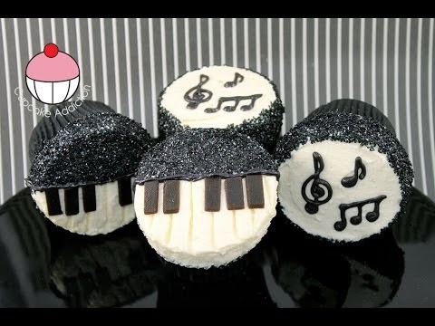 Music Cupcakes! Make Musician Themed Cup Cakes – A Cupcake Addiction How to Tutorial