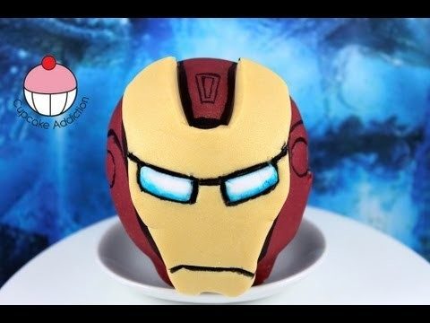 Iron Man Cupcakes! Collaboration with CakesByChoppA – A Cupcake Addiction How To Tutorial