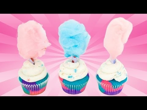 How to Make Cotton Candy Cupcakes from Cookies Cupcakes and Cardio