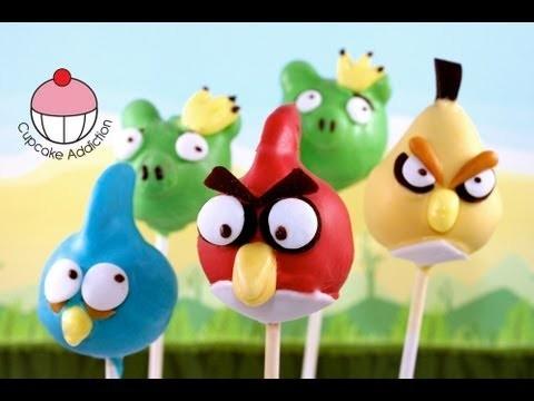 ANGRY BIRDS Cake Pops (Part 2) Make Angry Birds Cake Pops — A Cupcake Addiction Tutorial