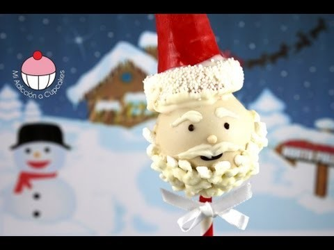 CHRISTMAS CAKE POPS!! — Make SANTA CAKEPOPS for Christmas — A Cupcake Addiction how To Tutorial