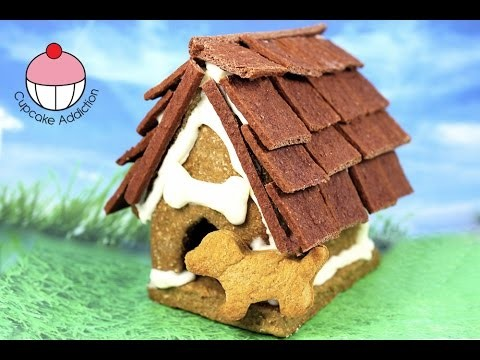Gingerbread Christmas House for DOGS! My Mum & I make a Ginger Bread Cookie Kennel