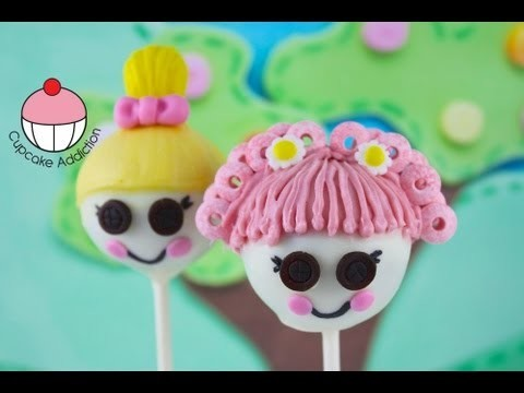 Lalaloopsy Cake Pops! Make Kids Lalaloopsy Doll Cake Pops — A Cupcake Addiction How To Tutorial