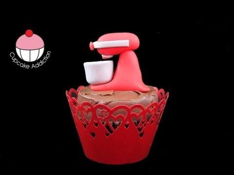 Kitchenaid Mixer Cupcakes!! How to Make Mini Stand Mixer Figurines – A Cupcake Addiction Tutorial