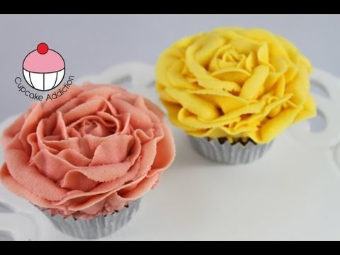 Cupcakes! Make Vintage Rose Cupcakes Using Buttercream – A Cupcake Addiction How To Tutorial