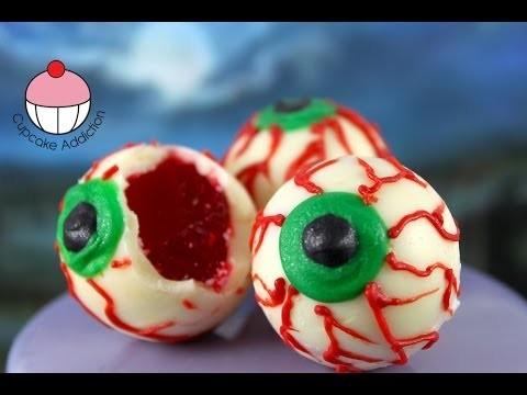 Halloween Jello Eyes! Make NO BAKE Halloween Treats – A Cupcake Addiction How To Tutorial