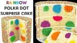 Rainbow Polka Dot Cake – Surprise Inside Sprinkle Cakes with Cupcake Addiction