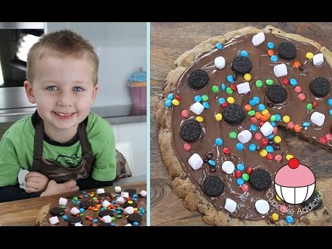 KIDS GIANT NUTELLA COOKIE PIZZA – Cooking With Squish Kids Recipe