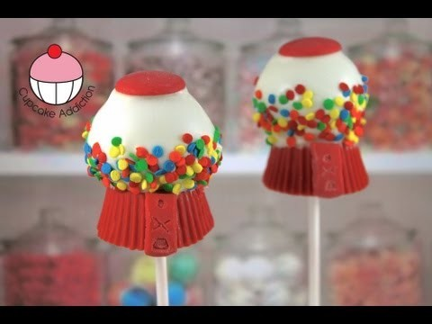 Gumball Machine Cakepops! Make Candy Gumball Cake pops — A Cupcake Addiction How To Tutorial