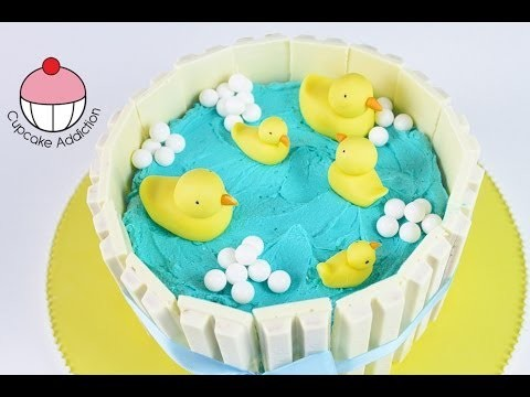 BABY SHOWER CAKE! Make a Duck Pond Kit Kat Cake – by Cupcake Addiction & Charli's Crafty Kitchen!