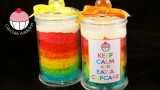Make a Rainbow Layer Cake IN A JAR! A Cupcake Addiction How To Tutorial