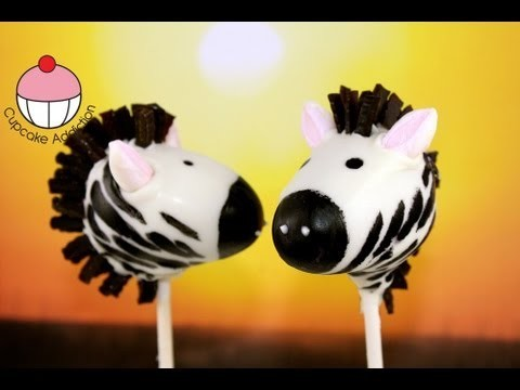 Make Zebra Cake Pops – Jungle / Safari Party Ideas – A Cupcake Addiction How To Tutorial