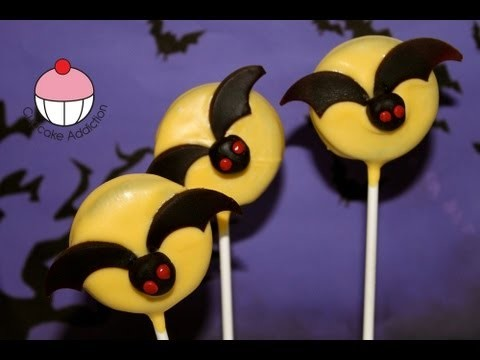 Decorate a Halloween Bat Cookie Cake Pop — A Cupcake Addiction How To Tutorial