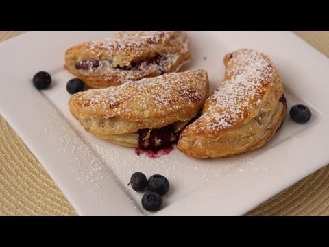 Homemade Blueberry Turnovers Recipe – Laura Vitale – Laura in the Kitchen Episode 419