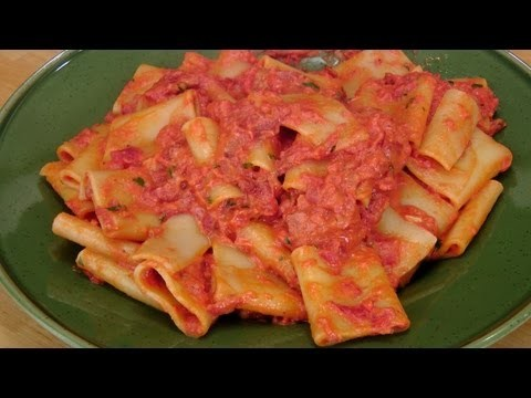 Pasta with Cream and Pancetta – Laura Vitale Recipe – Laura in the Kitchen Episode 232