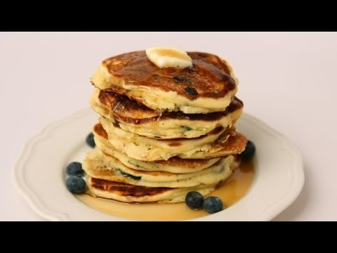 Homemade Blueberry Pancake Recipe – Laura Vitale – Laura in the Kitchen Episode 426