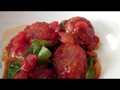 Turkey Meatballs in Cacciatore Sauce – Recipe – Laura Vitale Laura in the Kitchen Ep 189