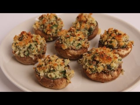 Breadcrumb Stuffed Mushrooms Recipe – Laura Vitale – Laura in the Kitchen Episode 330