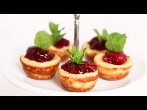 Mini Cherry Cheesecake Recipe – Laura Vitale – Laura in the Kitchen Episode 622