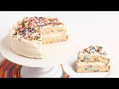 Confetti Birthday Cake Recipe – Laura Vitale – Laura in the Kitchen Episode 796