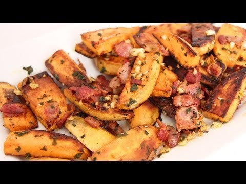 Skillet Roasted Sweet Potatoes Recipe – Laura Vitale – Laura in the Kitchen Episode 662