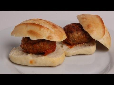 Mozzarella Stuffed Meatball Sliders Recipe – Laura Vitale – Laura in the Kitchen Episode 394