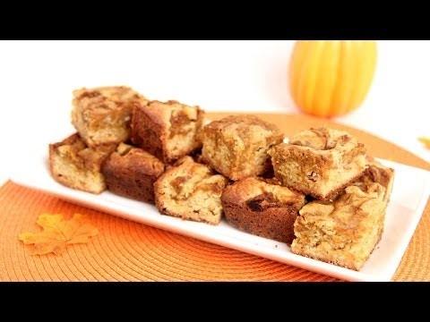 Pumpkin Swirl Blondies Recipe – Laura Vitale – Laura in the Kitchen Episode 656