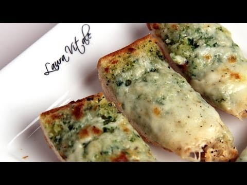 Cheesy Garlic Bread Recipe – Laura Vitale – Laura in the Kitchen Episode 288
