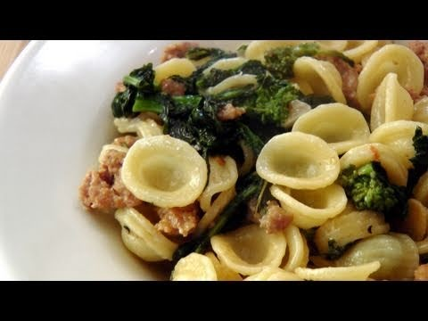 Orecchiette with Sausage and Broccoli Rabe Recipe – by Laura Vitale – Laura in the Kitchen Ep140