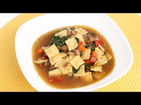 Mini Ravioli Soup Recipe – Laura Vitale – Laura in the Kitchen Episode 641