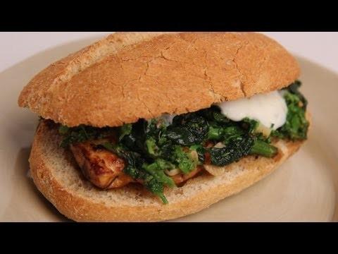 Broccoli Rabe and Chicken Sandwich – Laura Vitale – Laura in the Kitchen Episode 327
