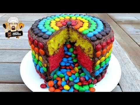 M&M RAINBOW PIÑATA CAKE