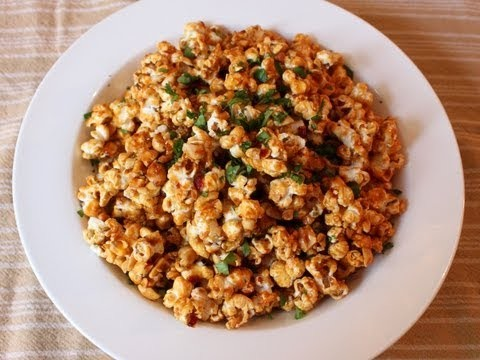"""Pad Thai"" Popcorn! Sweet & Spicy ""Pad Thai"" Flavored Caramel Popcorn"