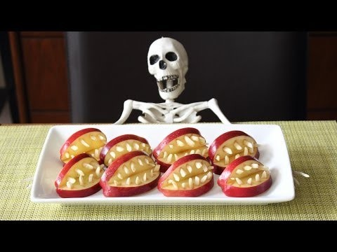 Devil's Dentures! – Healthy & SUPER SCARY Apple Halloween Treats