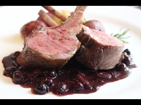 Rack of Lamb with Blueberry Beurre Rouge – Easter Lamb Roasted with Blueberries