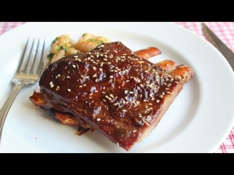 Root Beer Ribs Recipe – Spicy Lamb Ribs Glazed with Root Beer and Sesame
