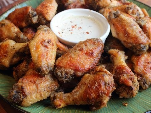 Garlic Parm Hot Wings – Oven-Fried Chicken Wings with Spicy Garlic Parmesan Crust Recipe