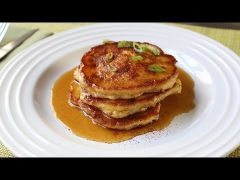 Mancakes – Bacon, Green Onion, & Cheddar Corn Pancakes Recipe – Father's Day Brunch