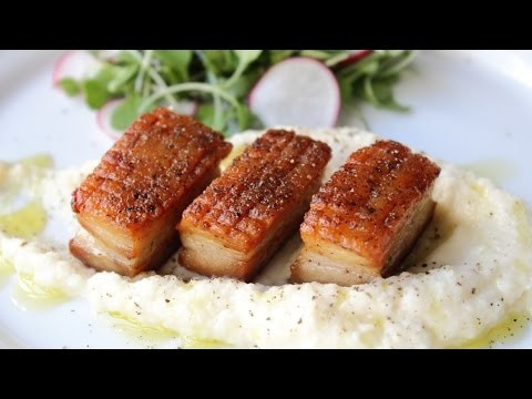 Pork Belly with Celery Root Puree – Crispy Pork Belly Recipe