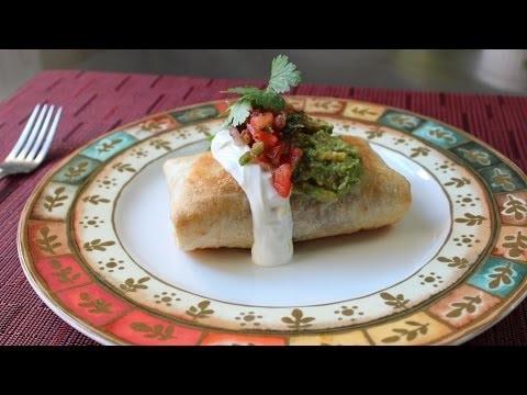 Chicken Mushroom Chimichanga – How to Make a Chimichanga (Oven Fried Burrito)