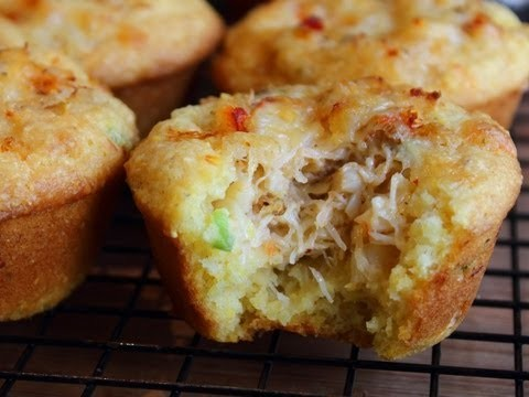 Crab Stuffed Corn Muffins Recipe – Spicy Corn & Crab Cupcakes