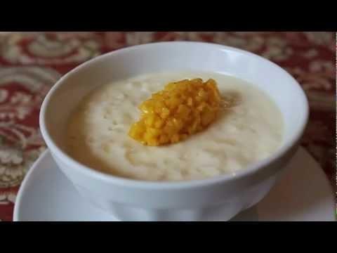 Rice Pudding Recipe – Coconut Milk Rice Pudding with Mango
